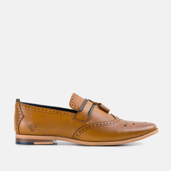 Capri Yellow Mens Loafer Shoe by Goodwin Smith | Mens Tweed Suits