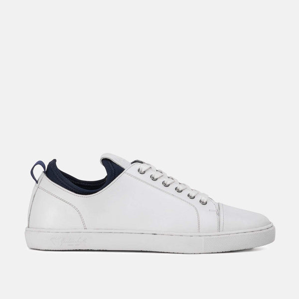 White smart brogue plimsoll leather GoodwinSmith shoe | Menstweedsuits