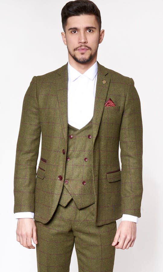 Mitchell Green Tweed Check Suit | Marc Darcy - Mens Tweed Suits