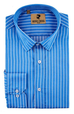 Menga Menga Blue Stripe - Mens Tweed Suits