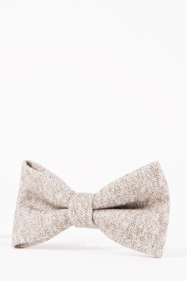 RAYFORD – Cream Heritage Tweed Bow Tie | Marc Darcy - Mens Tweed Suits