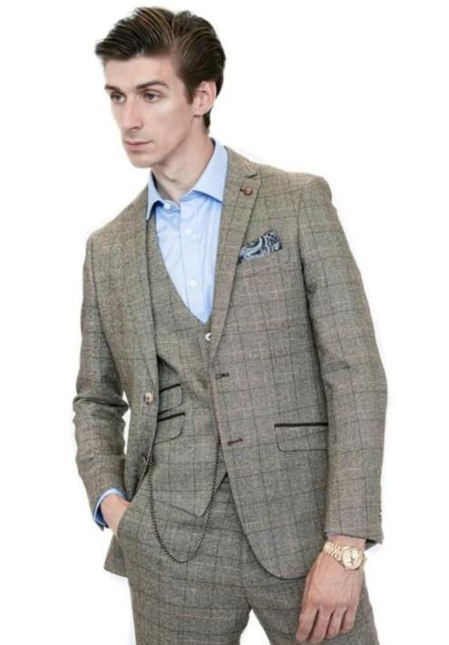 Mens Oak Check Tweed Suit | Mens Tweed Suits | Robert Simon Suits