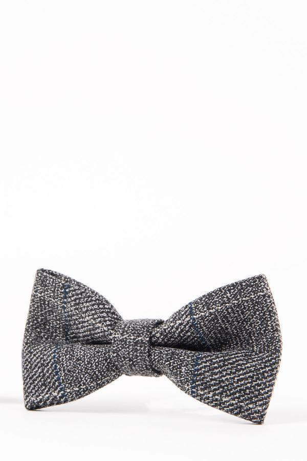 SCOTT - Grey Multi Tonal Check Tweed Bow Tie | Marc Darcy menstweedsuits shop buy