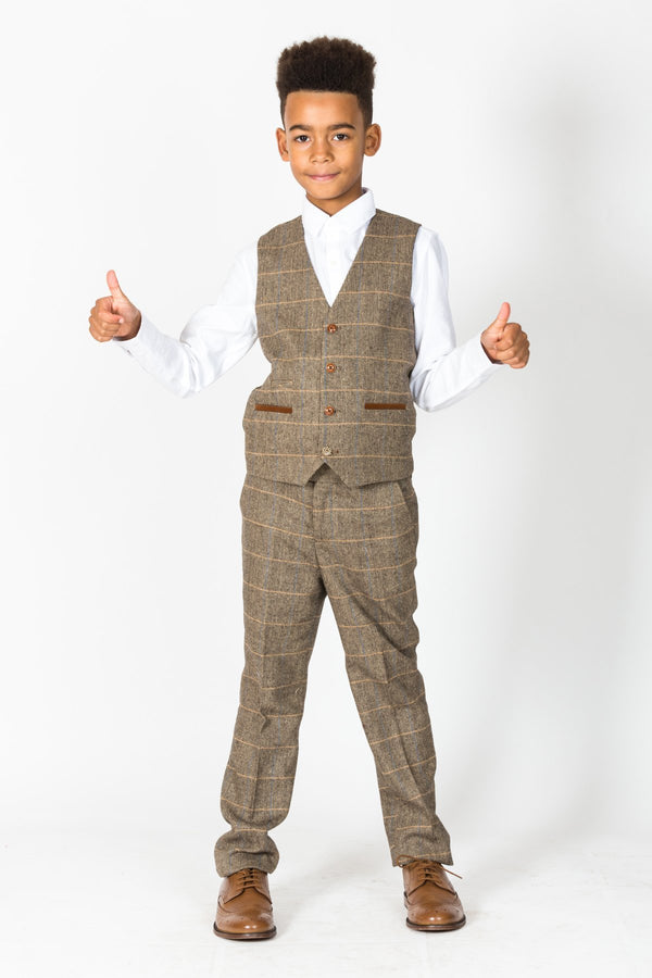 Ted Brown Tweed Check Suit - Mens Tweed Suits