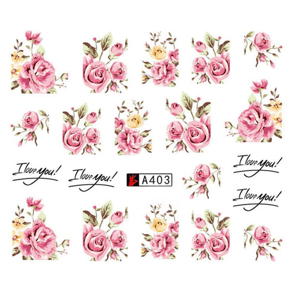 Flowers Nail Decals