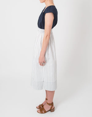 Dilly Dress - Navy and White Stripe