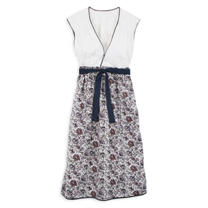 Dilly Dress - White and Floral Print