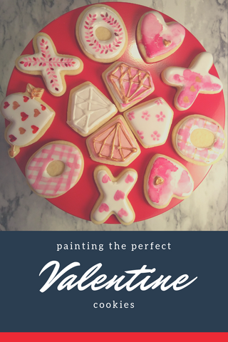 Painted Valentine's Cookies