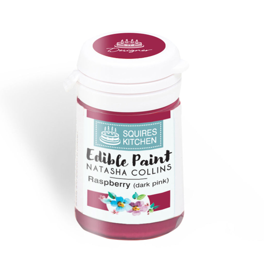 Raspberry (Dark Pink) Squire's Kitchen Edible Paint - By Natasha Collins