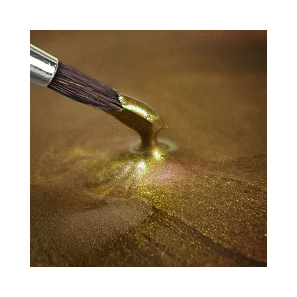 Light Gold Metallic Paint - Rainbow Dust