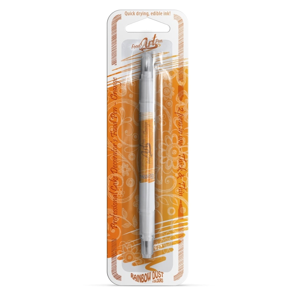 Orange Rainbow Dust Food Art Pen