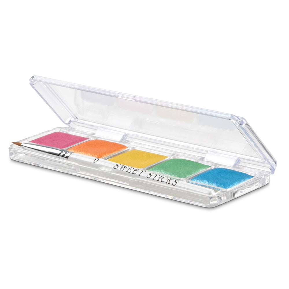 Rainbow Mini Edible Paint Palette - Sweet Sticks