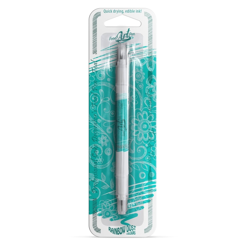 Teal Rainbow Dust Food Art Pen