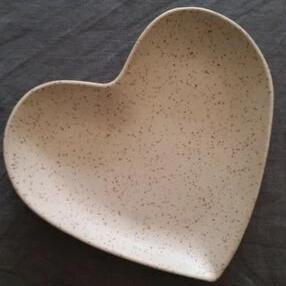 Heart Plate - Speckled