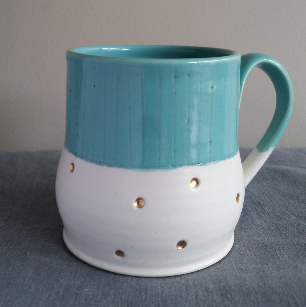 Teal Pinstripes Mug