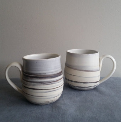Mug - Marbled Black & White