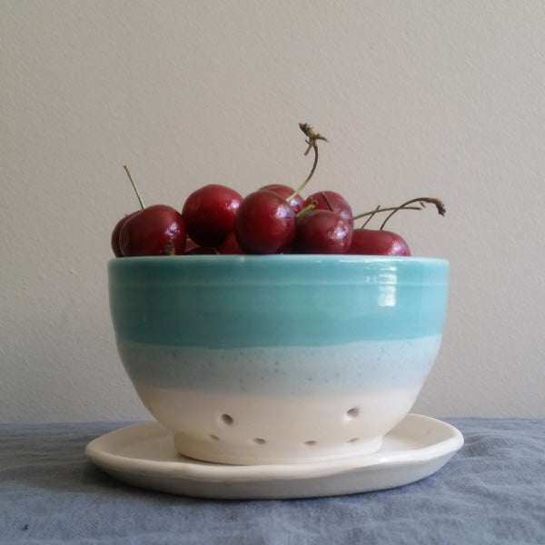 Berry Bowl in Teal Glaze by Muddy Marvels Handmade Pottery Squamish