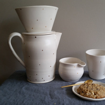 Handmade Pottery Coffee Carafe by Muddy Marvels