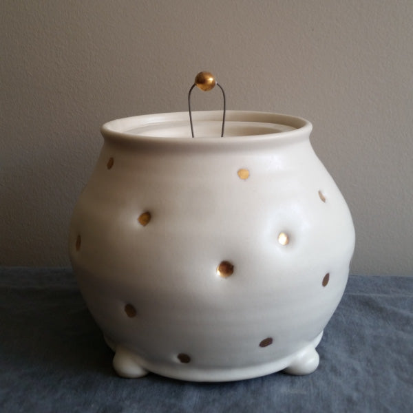 Handmade pottery cookie jar Muddy Marvels