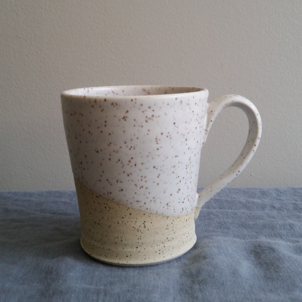 Speckled pottery mug by Muddy Marvels Handmade Pottery Squamish