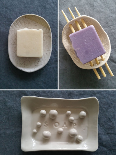 Pottery Soap Dish & Beginner Cold Process Bar Soap Workshop
