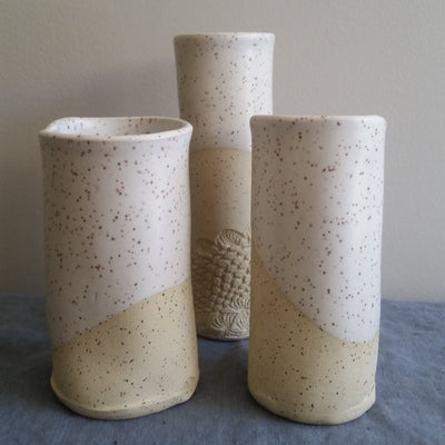 Medium Cylinder Vase - Speckled