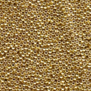 Size 11 Seed Bead, Galvanised Yellow Gold (10gm)