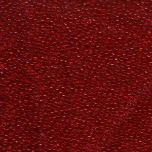 Size 11 Seed Bead, Transparent Red (10gm)
