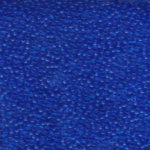 Size 11 Seed Bead, Transparent Sapphire (10gm)