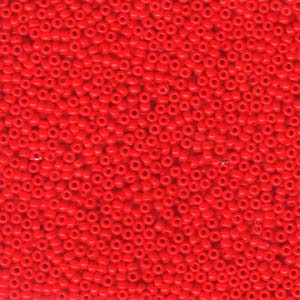 Size 11 Seed Bead, Opaque Red (10gm)