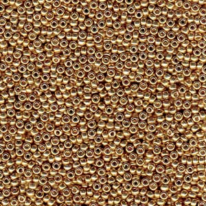 Size 6 Seed Bead, Duracoat Galvanized Champagne (10gms)
