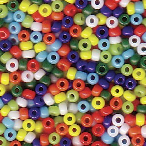 Size 11 Seed Bead Mix, Opaque Rainbow (10gm)