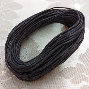 2.0mm Dark Brown Waxed Cotton Cord - 10m Packet