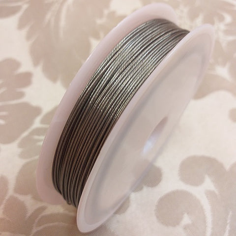 Silver Flexible Beading Wire (0.60mm/0.024inch) - 2x5m Packets