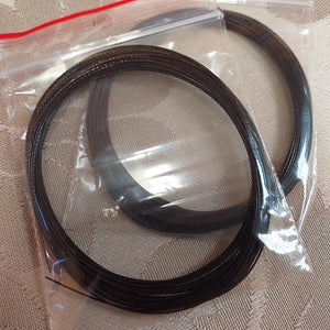 Black Flexible Beading Wire (0.46mm/0.018inch) - 2x5m Packets