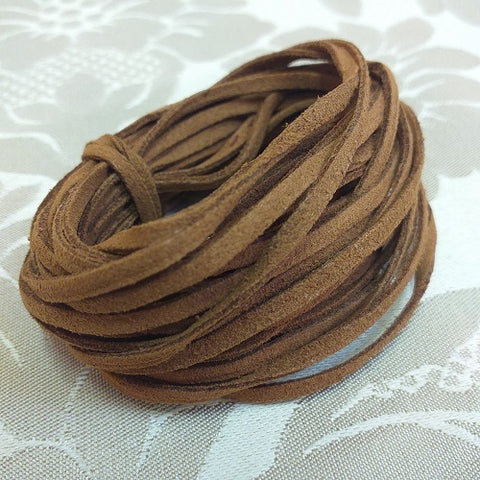 3mm Brown Faux Suede - 5m Packet