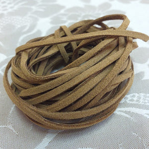 3mm Light Brown Faux Suede - 5m Packet