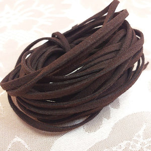 3mm Dark Brown Faux Suede - 5m Packet