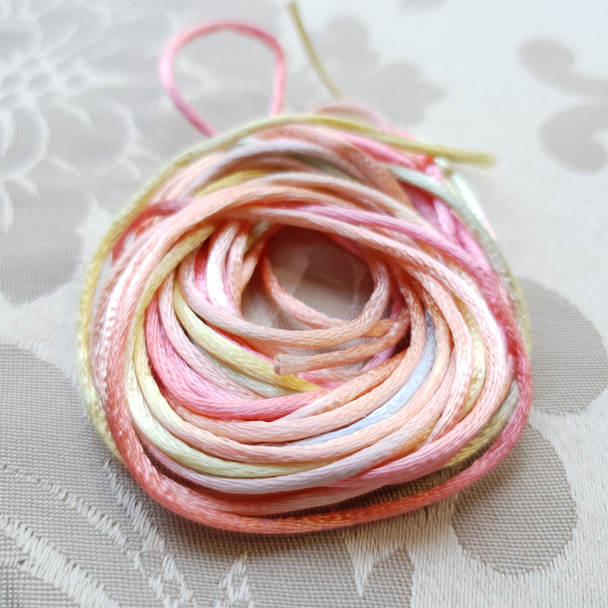 Satin Cord, Pastels, 2.0mm (5m)