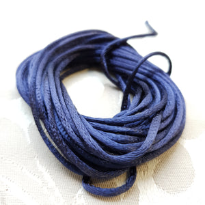 Satin Cord, Navy, 2.0mm (5m)