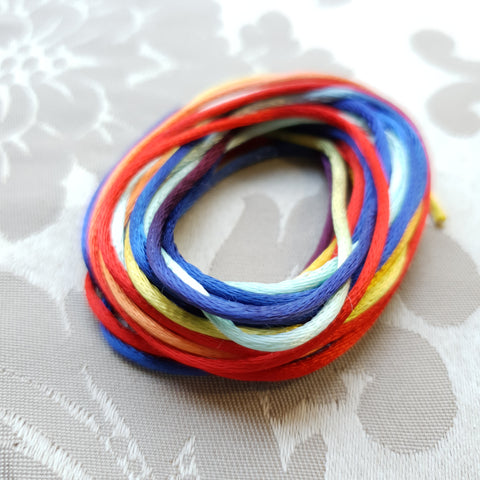 Satin Cord, Rainbow, 2.0mm (5m)