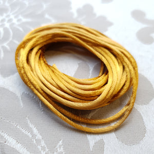 Satin Cord, Golden, 2.0mm (5m)