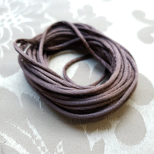 Satin Cord, Brown, 2.0mm (5m)