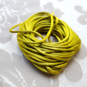 Satin Cord, Lime, 2.0mm (5m)
