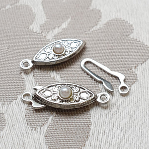 Fancy Clasp, Nickel, Single Strand, 20x6mm (1pc)