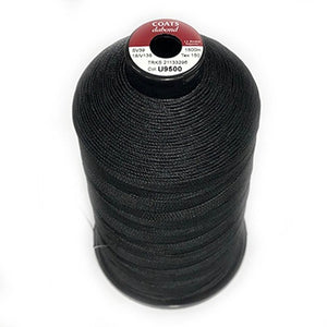 0.3mm Black Bonded Polyester Thread - 10m or 20m Packet