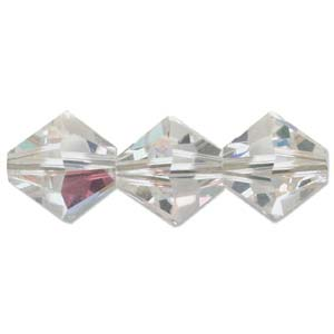 Swarovski Crystal, Bicone, Crystal AB, 8mm (5 pcs)