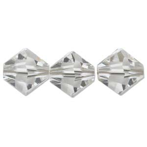 Swarovski Crystal, Bicone, Crystal, 6mm (10 pcs)