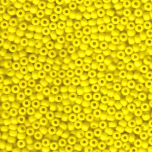 Size 8 Seed Bead, Opaque Yellow (10gms)