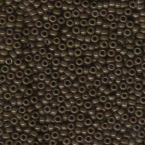 Size 8 Seed Bead, Opaque Chocolate (10gms)